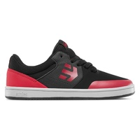 Etnies Kids Marana Black Red Grey Youth Skateboard Shoes