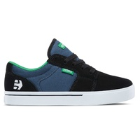 Etnies Kids Barge LS Black Blue White Youth Skateboard Shoes