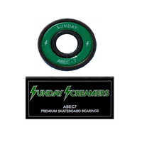 SUNDAY SCREAMERS ABEC 7 GREEN SKATEBOARD SKATE BEARINGS FREE DELIVERY AUSTRALIA