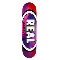 "Real Oval Tie Dye Pink Purple 8.12"" Skateboard Deck"
