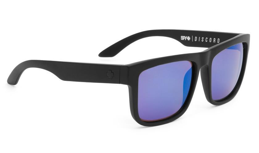 dca395a4a08c9 Spy Discord Matte Black Sunglasses Happy Bronze Polarized Blue Spectra Lens