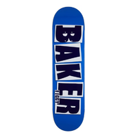 "Baker Brand Name Figgy Blue 8.125"" Skateboard Deck"