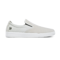 Etnies Veer Slip White Mens Suede Skateboard Shoes