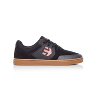Etnies Kids Marana Black Black Gum Youth Skateboard Shoes