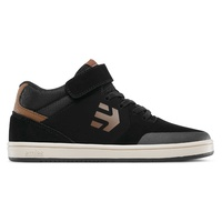 Etnies Kids Marana MT Black Brown Youth Skateboard Shoes