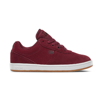 Etnies Kids Joslin Burgundy Youth Suede Skateboard Shoes