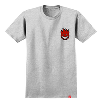 Spitfire Lil Bighead Fill Heather Grey Red Mens Short Sleeve Tee