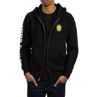 Spitfire Lil Bighead Hombre Black Yellow Mens Zip Up Hoodie