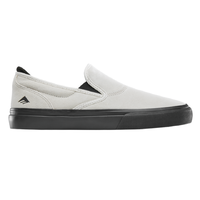 Emerica Wino G6 Slip-On White Black Mens Suede Skateboard Shoes