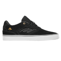 Emerica The Low Vulc Black Gold White Mens Suede Skateboard Shoes