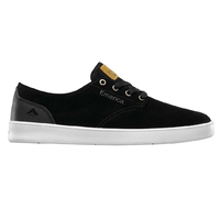 Emerica The Romero Laced Black Black White Mens Suede Skateboard Shoes