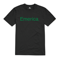 Emerica Pure Black Green Mens Short Sleeve Tee
