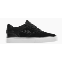 Emerica The Reynolds Low Vulc Black White Gum Youth Suede Skateboard Shoes