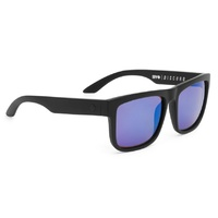 Spy Discord Matte Black Sunglasses Happy Bronze Polarized Blue Spectra Lens