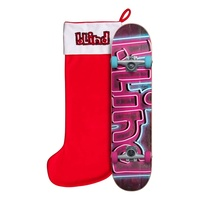 "Blind Late Night Pink Blue 7.375"" Mid Complete Skateboard"