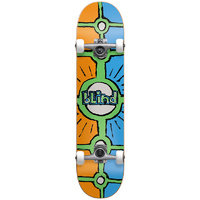 "Blind Holy Grail Orange Cyan 8.0"" Complete Skateboard"