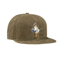 Coal The Wilderness Duck Light Brown Corduroy Snapback Cap