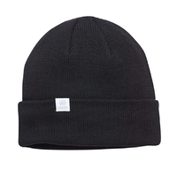 Coal The FLT Black Recycled Polylana Knit Beanie