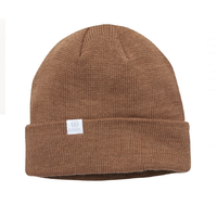 Coal The FLT Light Brown Recycled Polylana Knit Beanie