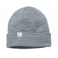 Coal The FLT Heather Grey Recycled Polylana Knit Beanie