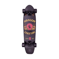 "Z-Flex Aragon Cheetah Black 7.5"" 29.0"" Complete Cruiser Skateboard"
