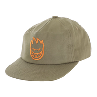 Spitfire Bighead Khaki Orange Adjustable Snapback Cap