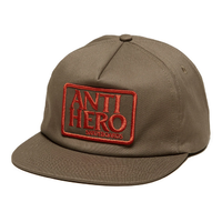 Anti Hero Reserve Patch Brown Red Adjustable Snapback Cap