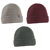 Thirtytwo 32 Cascade Tan Burgundy Charcoal Beanie 3 Pack