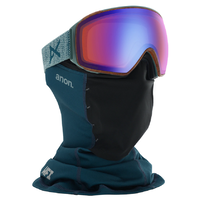 Anon M4 Toric Lay Back 2020 Snowboard Goggles Sonar Blue Lens + MFI Facemask