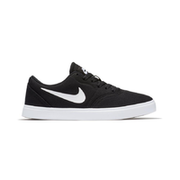 Nike SB Check (GS) Black White Youth Canvas Skateboard Shoes