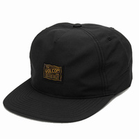 Volcom Road Test Black Snapback Hat