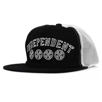 Independent Pennant Black Snapback Trucker Hat