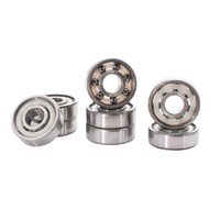 Sunday Shieldless Silver Abec 7 Skateboard Bearings