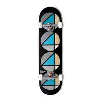 "The 4 Skateboard Co Repeat Teal Black 8.0"" Complete Skateboard"