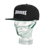Boarders Embroidered OG Logo Black Snapback Cap