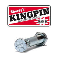 Shorty's Grade 8 Silver Skateboard Kingpin with Nut