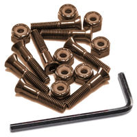 "Aegis Anodised Hardware Bronze 1"" Allen Key Skateboard Bolts"