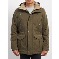 Volcom Walk On What Army Combo Mens Parka Jacket