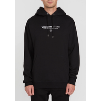 Volcom Supply Stone Black Mens Pullover Hoodie