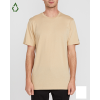 Volcom Solid Almond Mens Short Sleeve Tee