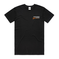 Boarders Support Your Local Black Mens Box Fit Tee