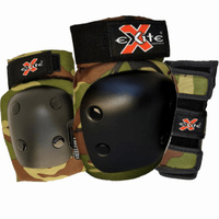 Excite Youth Green Camo 3 Pack Skateboard Pads Set
