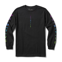 Primitive Moods Gradient Black Mens Long Sleeve Tee