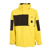 Sessions Annex Yellow Mens 10K 2021 Snowboard Jacket