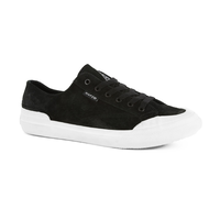 Huf Classic Lo Black White Mens Suede Skateboard Shoes