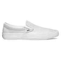 Vans Slip-On Pro White White Mens Canvas Skateboard Shoes