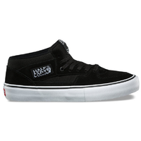 Vans Half Cab Pro Black Black White Mens Suede Skateboard Shoes