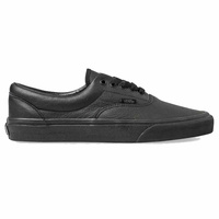 Vans Era Pro Black Leather Mens Skateboard Shoes