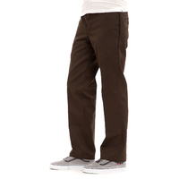 Dickies Slim Straight Fit Flat Front Chocolate Brown Mens Work Pants 873