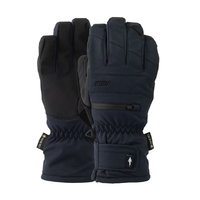 Pow Wayback GTX Short Black Mens Gore-Tex Snowboard Gloves